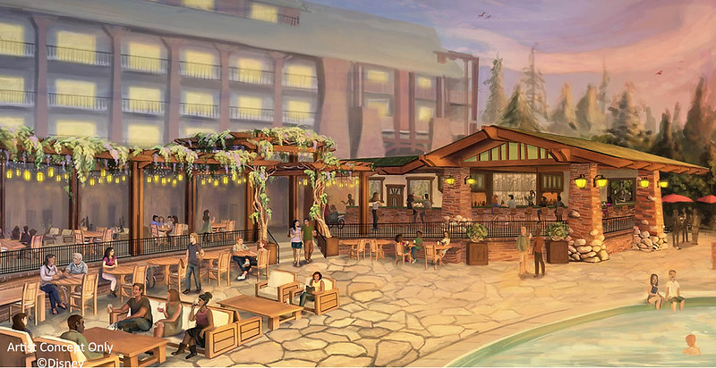New pool bar and quick service Dole Whip window, plus restaurant updates for Disneyland Resort Hotels