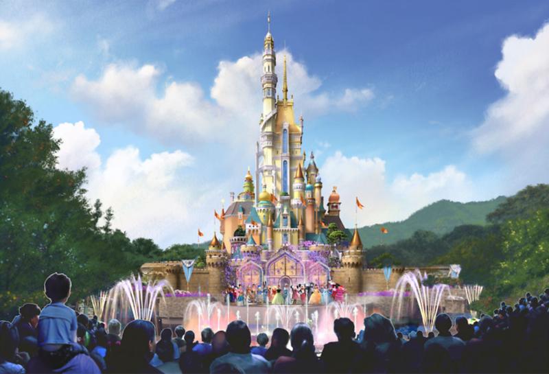 New concept art for Hong Kong Disneyland Castle