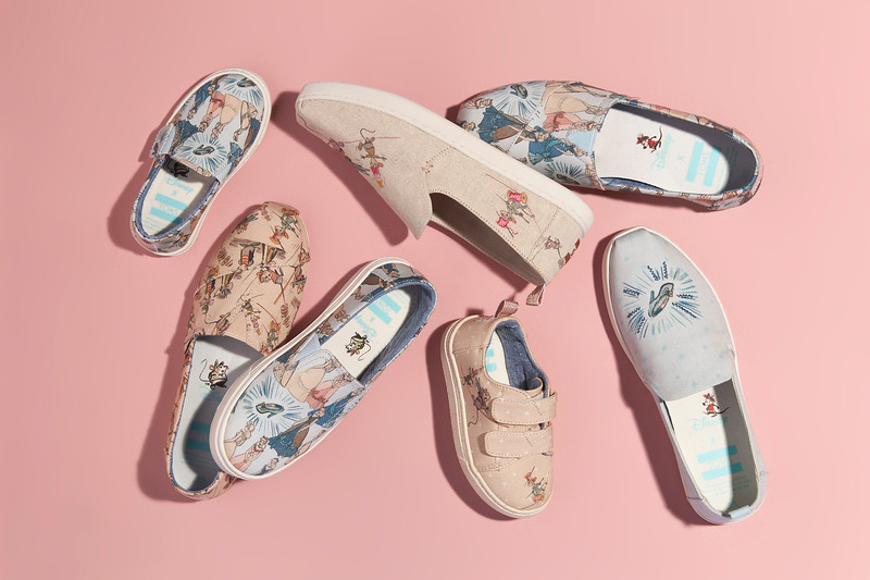 We're dying a little bit for these Disney Princess TOMS!