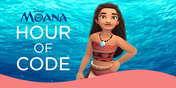Disney continues teaching computer coding with familiar characters, this time with MOANA!