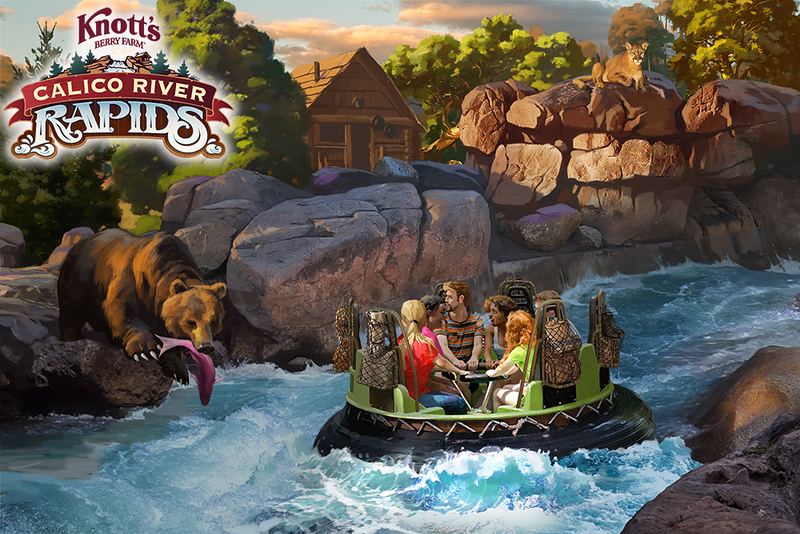 Behind-the-Scenes look at Knott's new CALICO RIVER RAPIDS attraction