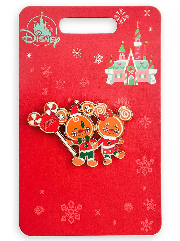 2020 disney toys for toyts gingebread mickey and minnie pin