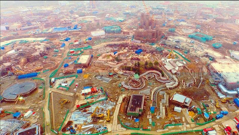 Shanghai Disneyland aerial photograph