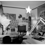 "Supervising Animator Ellen Woodbury in her office; 1996 (She's in the lower right corner). Ellen animated Pegasus in ""Hercules"", which explains the wing(for study). She was also the Supervising Animator of Zazu in ""The Lion King"". Ellen is now a sculptress our in Colorado...a very talented person!"