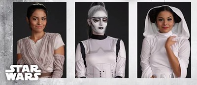 Disney Style transforms one girl into four iconic STAR WARS looks