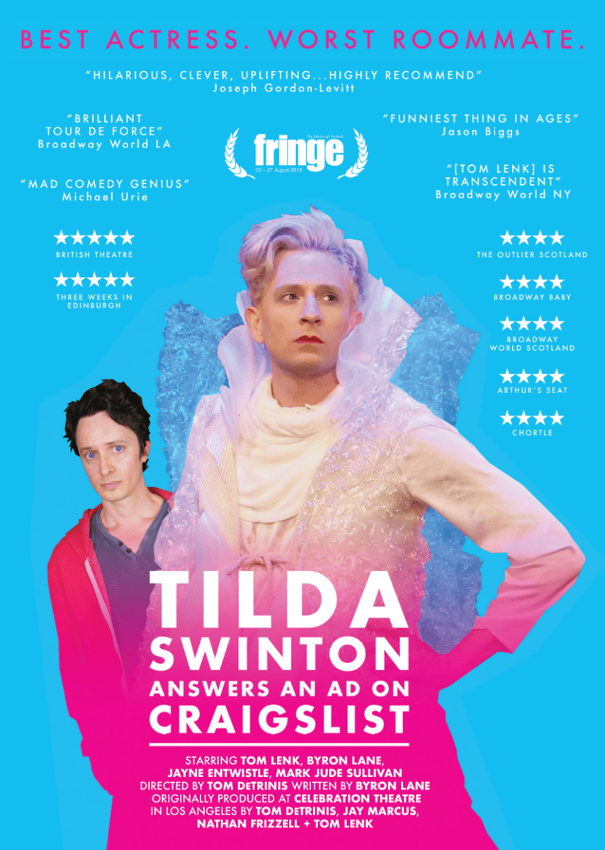 INTERVIEW: Tom Lenk brings TILDA SWINTON to Gay Days Anaheim October 5th