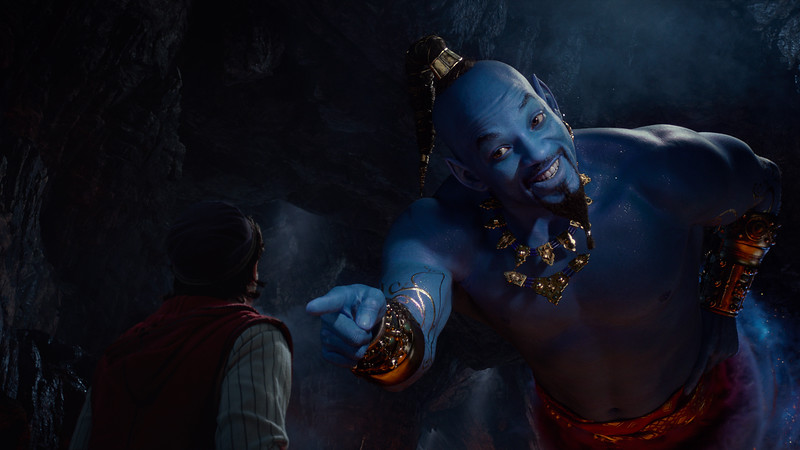 WATCH: ALADDIN unveils new clips showcasing a blue Genie, Jafar, Prince Ali, and more!