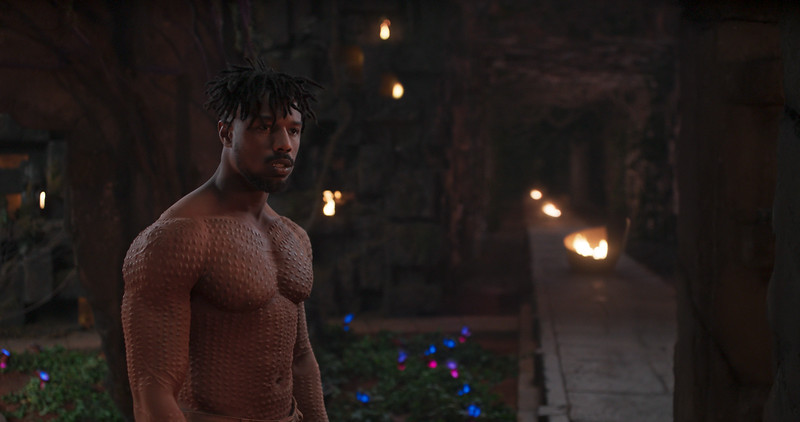 Marvel Studios' BLACK PANTHER..Erik Killmonger (Michael B. Jordan)..Ph: Film Frame..©Marvel Studios 2018