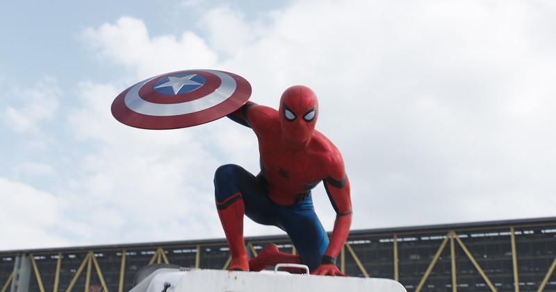 Marvel's Captain America: Civil War<br /> <br /> Spider-Man/Peter Parker (Tom Holland)<br /> <br /> Photo Credit: Film Frame<br /> <br /> © Marvel 2016
