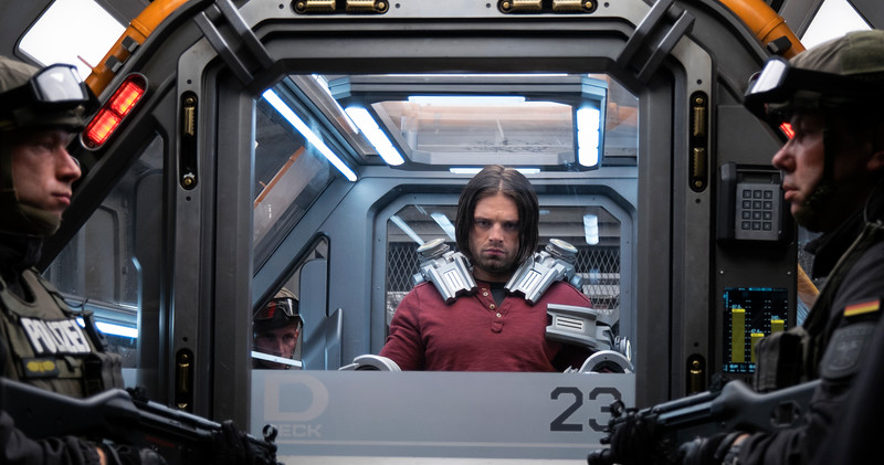 Marvel's Captain America: Civil War<br /> <br /> Winter Soldier/Bucky Barnes (Sebastian Stan)<br /> <br /> Photo Credit: Zade Rosenthal<br /> <br /> © Marvel 2016
