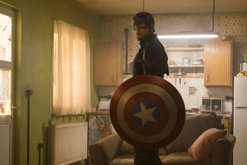 Marvel's Captain America: Civil War<br /> <br /> Captain America/Steve Rogers (Chris Evans)<br /> <br /> Photo Credit: Zade Rosenthal<br /> <br /> © Marvel 2016