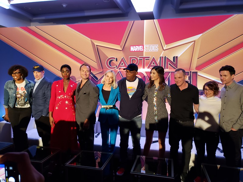 Sitting down with cast and creators of CAPTAIN MARVEL