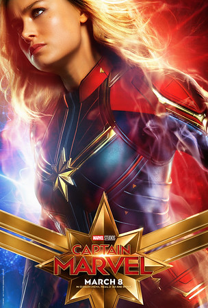 CAPTAIN MARVEL posters have everyone looking over their shoulder… literally