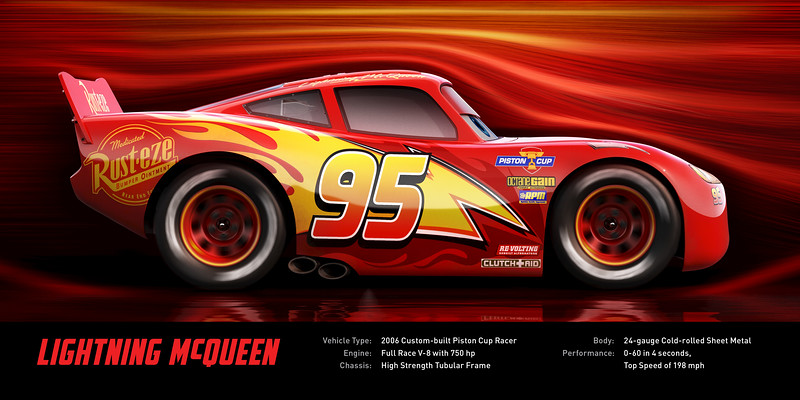 Lightning strikes in extended look at CARS 3 plus new character bios