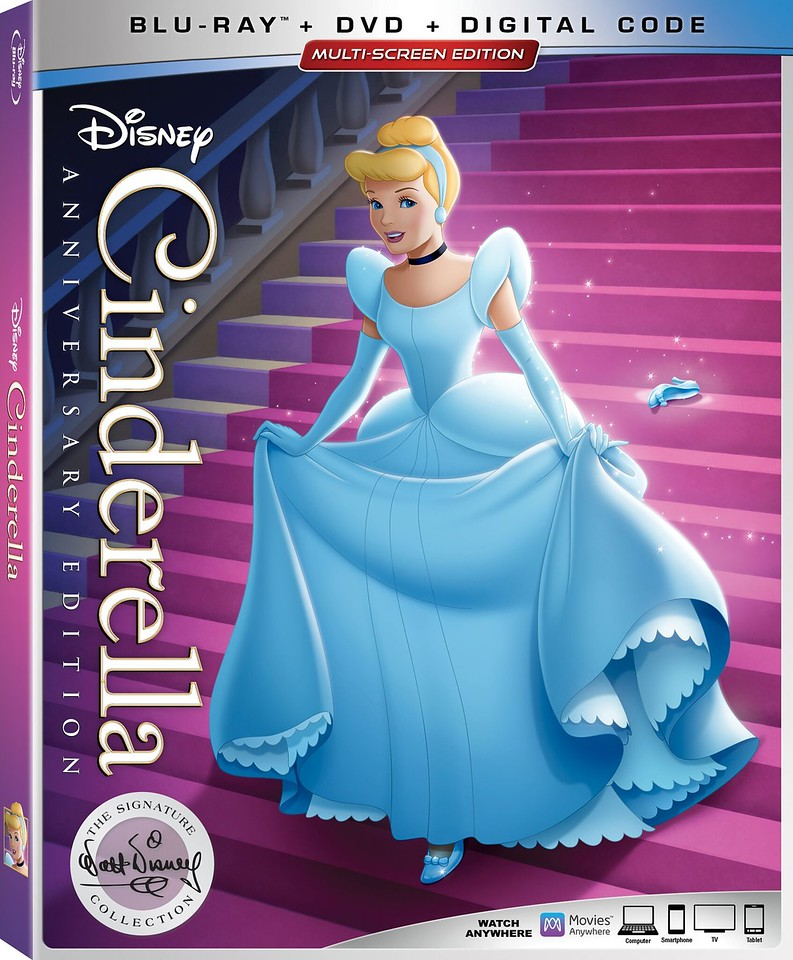 cinderella anniversary edition walt disney signature bluray boxshot