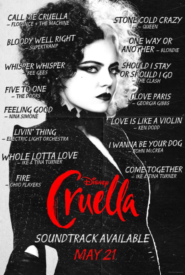 cruella soundrack poster