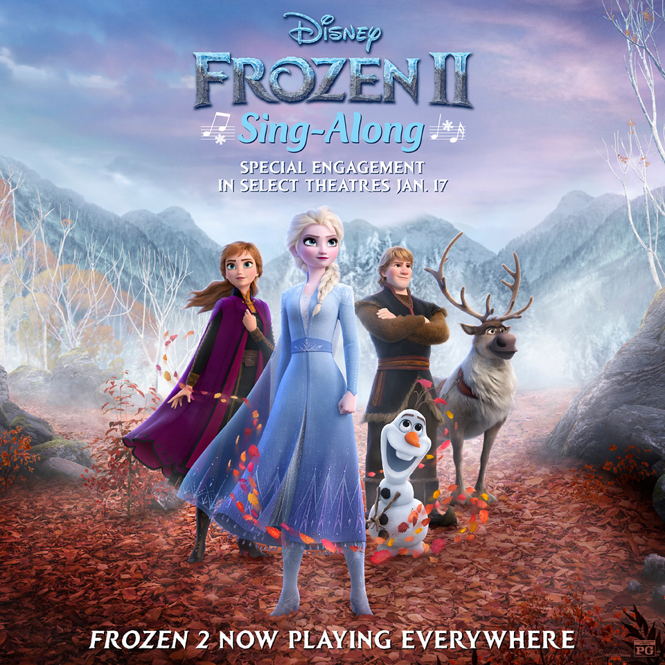 Disney announces FROZEN 2 Special Sing-Along Engagement