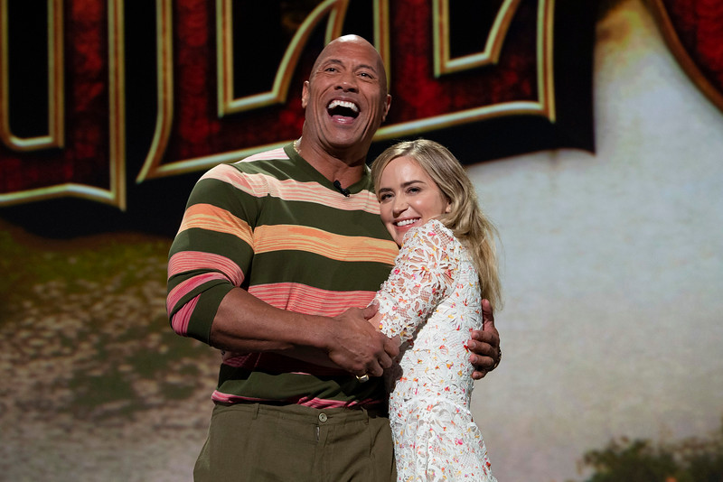 Dwayne Johnson and Emily Blunt make splashy #D23Expo appearance for JUNGLE CRUISE
