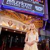 Actress Elle Fanning Surprises Disneyland Guests during 'Maleficent' Sneak Peek
