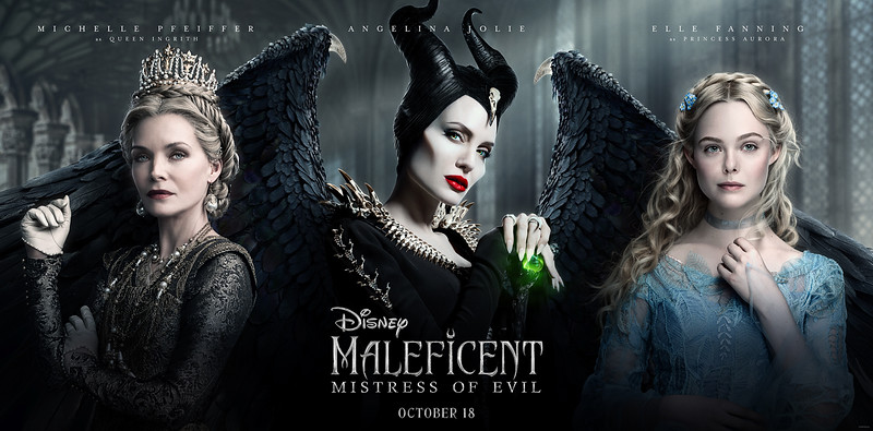 YES QUEEN! Gorgeous new triptych poster released for MALEFICENT: MISTRESS OF EVIL features regal royals