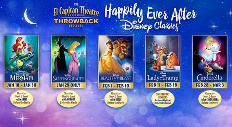 HAPPILY EVER AFTER series brings Disney Classics to big screen with character appearances at El Capitan Theatre