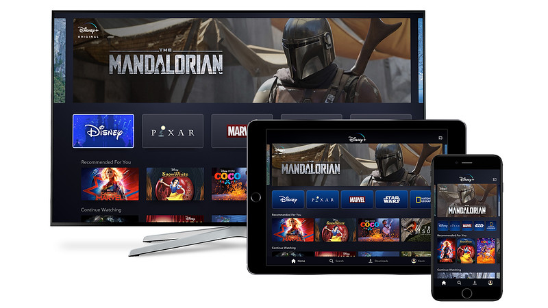 FIRST LOOK: App interface for Disney+ as seen on Smart TV, Tablet, and Mobile devices