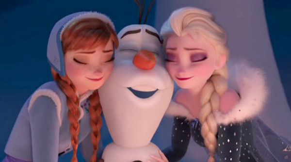 "Sing along with ""When We're Together"" from Olaf's Frozen Adventure just in time for the Holidays"