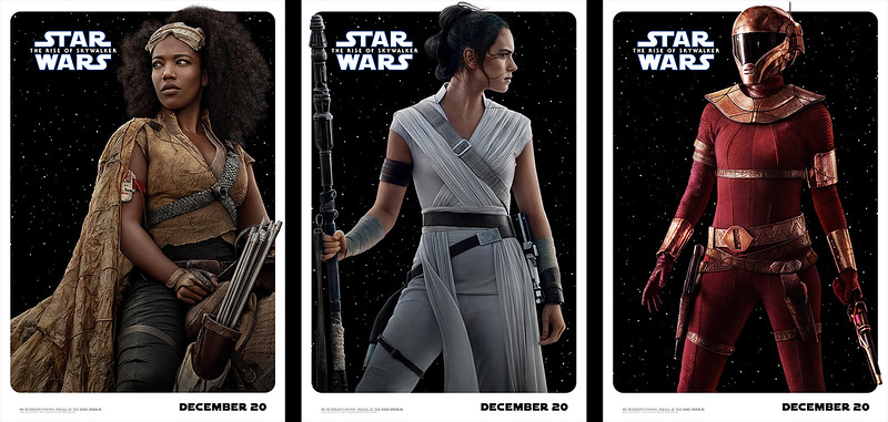 New trading-card-style character posters drop for STAR WARS: THE RISE OF SKYWALKER