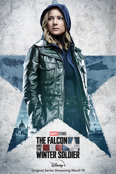 disney plus falcon and winter soldier character posters SHARON