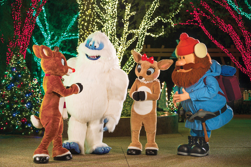 Rudolph and friends at SeaWorld