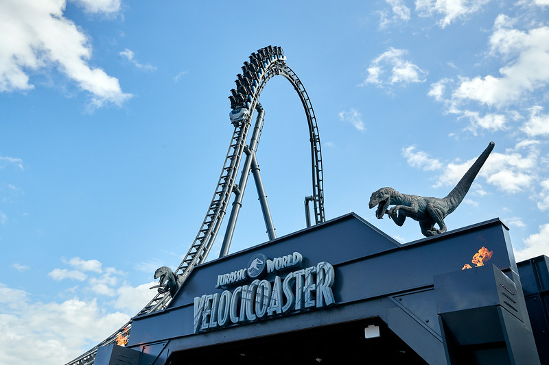 20-47050<br /> Publicity P791<br /> COASTER ON TRACK<br /> Jurassic World JW<br /> Jurassic Park JP<br /> IOA Islands of Adventure