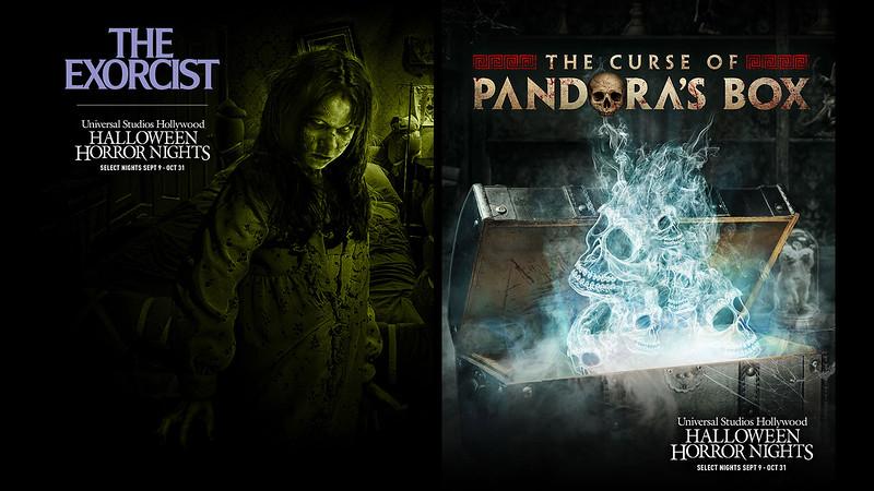 The Exorcist AND Curse of Pandora's Box maze at USH-HHN 2021 maze