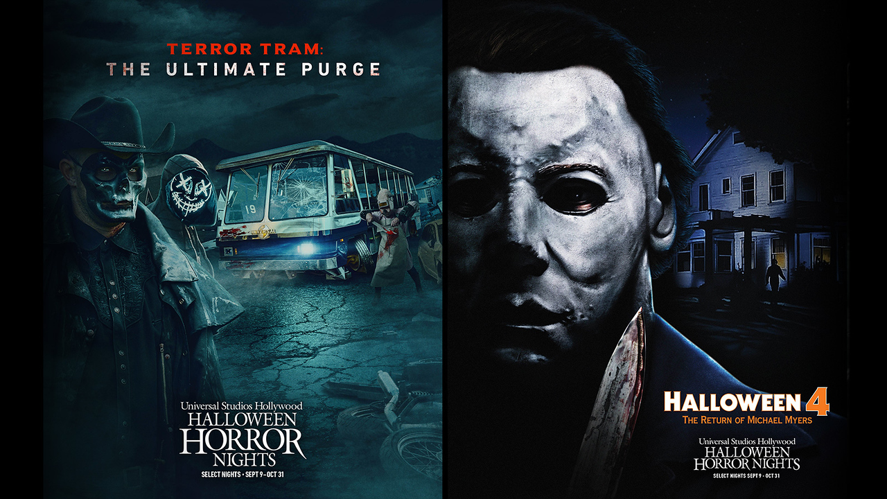Terror Tram and Halloween 4 maze USH-HHN 2021