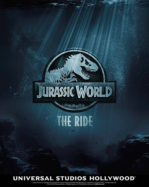 """""""Jurassic World--The Ride"""" opens this summer at Universal Studios Hollywood (2019)"""