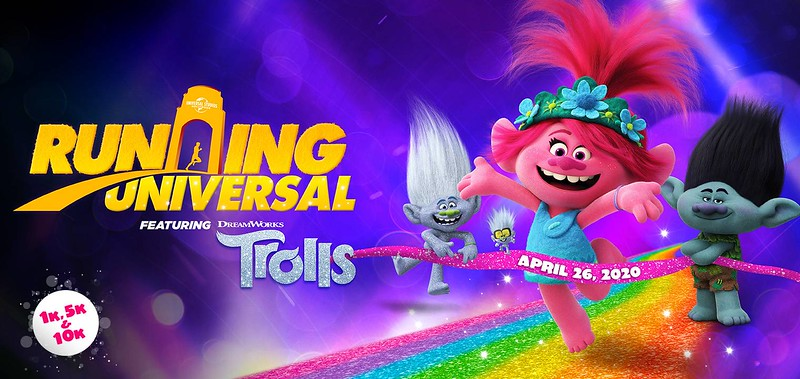TROLLS to feature in new RUNNING UNIVERSAL 10K, 5K, 1K events