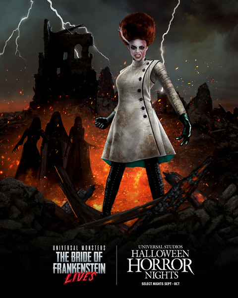 """""""Universal Monsters: The Bride of Frankenstein LIves"""" maze at Halloween Horror NIghts 2021 at Universal Studios Hollywood and Universal Orlando Resort"""