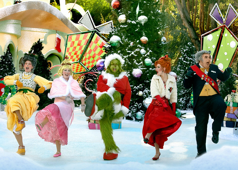 """Grinchmas"" performance on the world-famous behind-the-scenes Studio Tour at Universal Studios Hollywood"