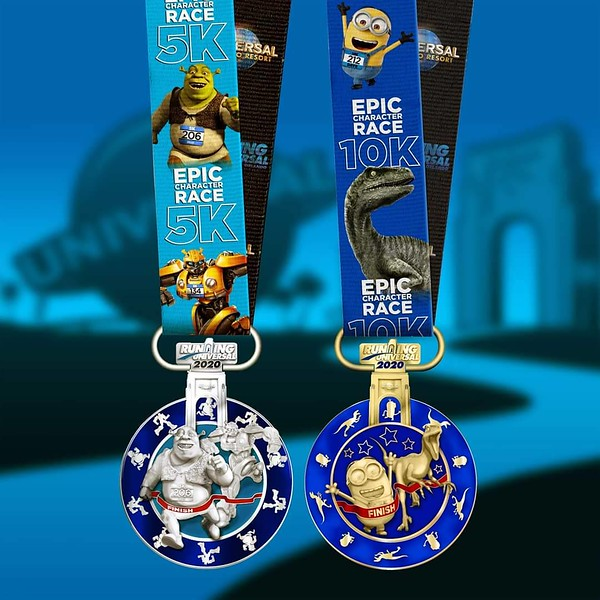RUNNING UNIVERSAL 'Epic Character Race' 5K and 10K medals shown ahead of registration deadline