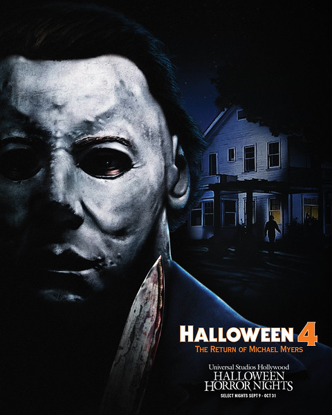 """""""Halloween 4: The Return of Michael Myers"""" maze at Halloween Horror NIghts 2021 at Universal Studios Hollywood (select nights September 9 - October 31)"""