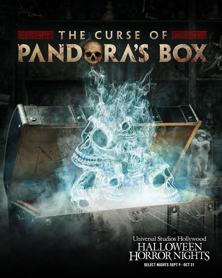 """The Curse of Pandora's Box"" maze at Halloween Horror NIghts 2021 at Universal Studios Hollywood (select nights September 9 - October 31)"