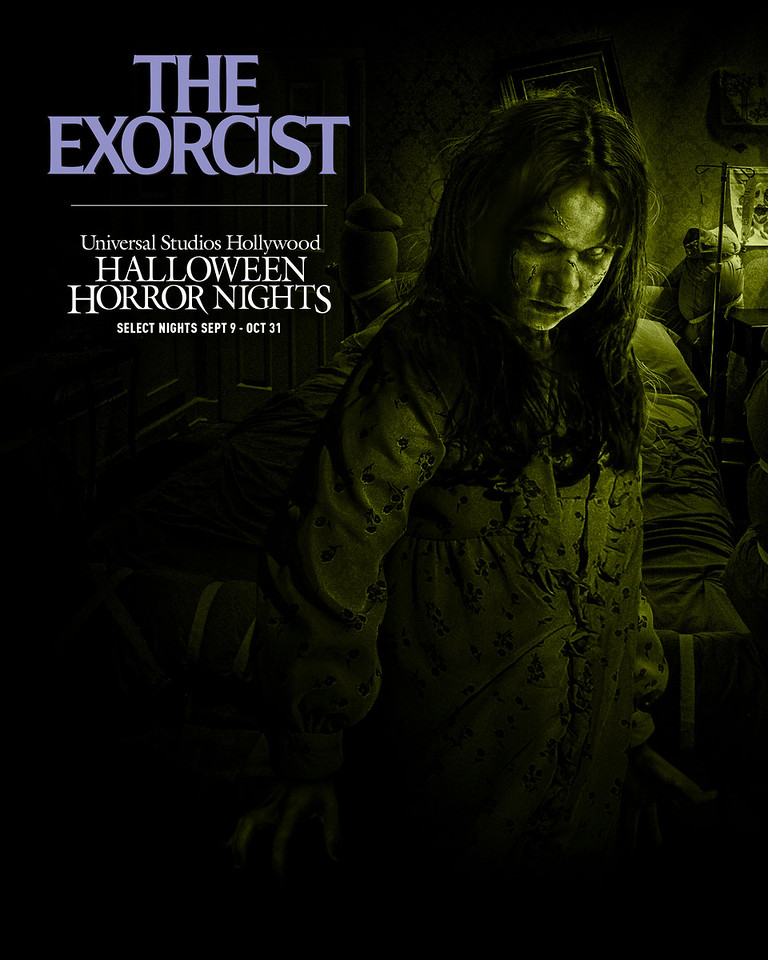 """""""The Exorcist"""" maze at Halloween Horror NIghts 2021 at Universal Studios Hollywood (select nights September 9 - October 31)"""