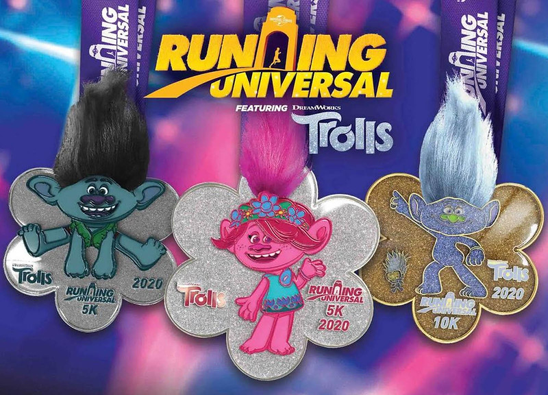 Check out the medals for the RUNNING UNIVERSAL FEATURING TROLLS event!