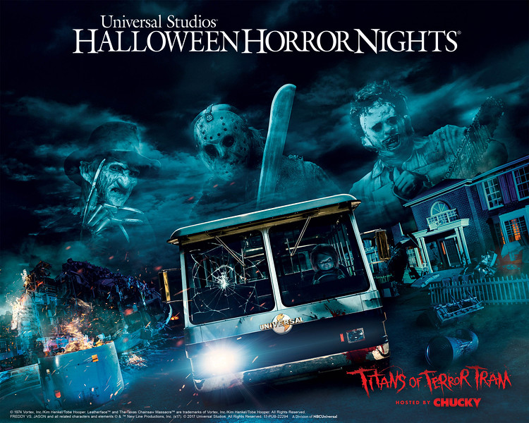 """Freddy Krueger, Jason Voorhees and Leatherface are the """"Titans of Terror,"""" Universal Studios Hollywood's Terrifying New Slasher Film Maze Debuting at this Year's """"Halloween Horror Nights,"""" Beginning Friday, September 15."""