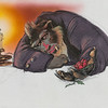 Glen Keane<br /> Concept art, 1991<br /> Beauty and the Beast (1991)<br /> Marker, gouache, photocopy, and pastel on paper<br /> Courtesy of the Walt Disney Animation Research Library, ©Disney<br /> IL2018.1.7
