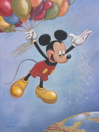 Mickey Mouse official birthday portrait celebrating his 90th anniversary unveiled today at #SDCC