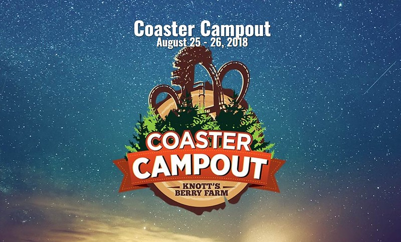 Spend the night inside Knott's Berry Farm at the COASTER CAMPOUT charity event!