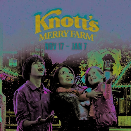 Celebrate the Holidays at Knott's Merry Farm from Nov. 17, 2017 – Jan. 7, 2018