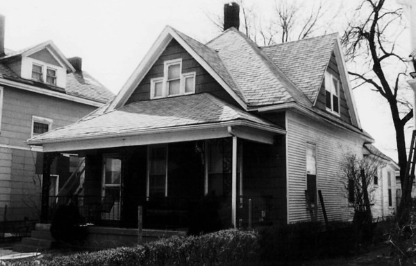 Walt lived in this house at 3028 Bellefontaine Avenue, Kansas City, from 1910 to 1917, and again from 1919 to 1921. (Photo: Missouri Department of Natural Resources / Landmarks Commission, taken in 1977)
