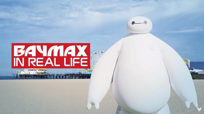 BAYMAX character surprises beachgoers