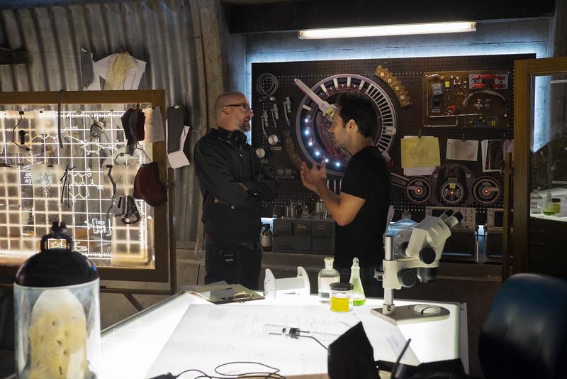 Marvel's Ant-Man<br /> <br /> L to R: Director Peyton Reed and Paul Rudd (Scott Lang/Ant-Man) on set.<br /> <br /> Photo Credit: Zade Rosenthal<br /> <br /> © Marvel 2014